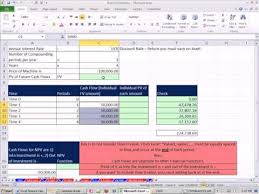Discounted Flow Analysis Excel Template Excel Finance Class 27 Asset Valuation Discounted Flow