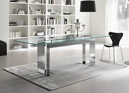 large rectangle glass dining table bedroom and living room image