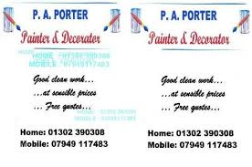 Self Employed Painter And Decorator Hourly Rate P A Porter Painter And Decorator Paint Stripping Company In