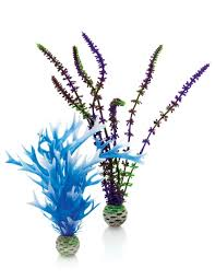 amazon com biorb blue purple plant pack aquarium decor plastic