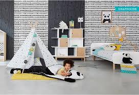 chambre fille noir et blanc maisons du monde 10 chambres bébé enfant inspirantes idées déco
