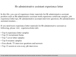 awesome collection of sample cover letter for hr administrator job