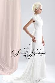 robe de mariã e sur mesure pas cher robe de mairee dentelle et manches courtes mariage createur