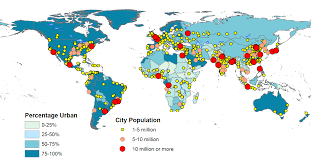 Africa Population Map by Sa Population Flocking To Cities