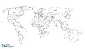 world map black and white with country names pdf my travel map visited countries map travel map highlight and