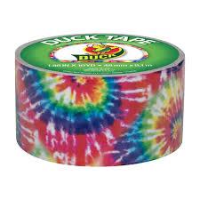 halloween duct tape duck brand duct tape 1 88 in x 10 yds love tie dye walmart com