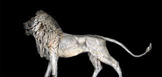 metal lion sculpture scrap metal lion sculpture by selçuk yılmaz