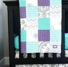Teal And Purple Crib Bedding Baby Quilt Crib Bedding Rag Quilt Nursery Bedding Baby Quilt
