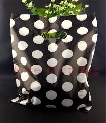 wholesale white dots black plastic bag 25x35cm large jewelry