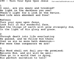 Light In Your Eyes Lyrics Adventist Hymnal Song 290 Turn Your Eyes Upon Jesus With Lyrics