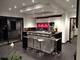 cuisine ilot bar ilot central bar cuisine cuisine blanche et bois design et