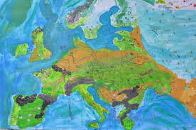 River Map Of Europe by Designing A Physical Map Of Europe The Troutbeck