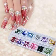 imagenes de uñas acrilicas con pedreria 1200pcs manicura pedrería brilla polvo kit acrílico uñas manicura