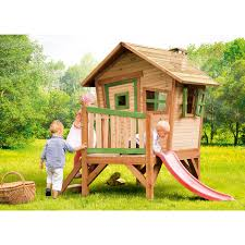 giardino bambini gioco legno bambini robin playhouse scivolo x giardino finestre