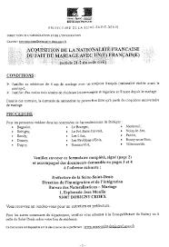 demande de naturalisation par mariage n 3605 rapport d information de m claude goasguen déposé en