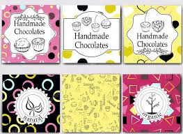 vector handmade chocolates packaging templates and design elements