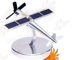 le bureau solaire métal solaire avion modèle bureau décorer solaire jouet dans blocs