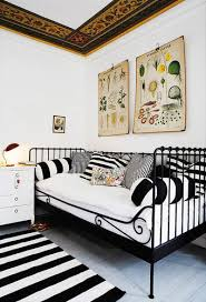striped wallpaper and home decorating fabrics changing interior