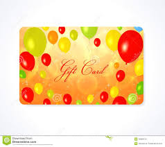 gift card business gift card discount card business card balloon stock images