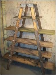 Wooden Ladder Bookcase by Ideas For Home Wooden Ladder Shelf Rustic Wooden Ladder Shelf