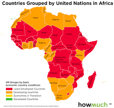 African Countries Map The Fourth World Visualized