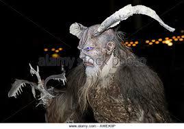 Krampus Halloween Costume Devil Demon Mask Horns Stock Photos U0026 Devil Demon Mask Horns Stock