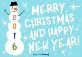 merry and happy new year background free vector