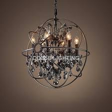 Vintage Crystal Chandeliers Vintage Smoky Crystal Chandelier Hanging Lighting Orb Globe Matt