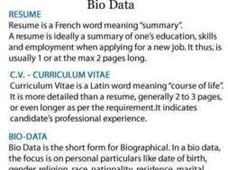 What Is The Difference Between Resume And Cv Difference Between Resume C V And Bio Data U2013 Tell My Story