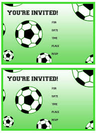 free printable soccer birthday party invitations from