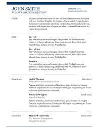 Best Resume Samples For Hr by 7 Best Professional Resume Layout Examples And Top Resume Keywords