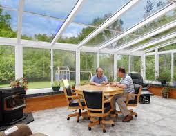 Four Seasons Sunroom Shades Straight Eave Hybrid Glass Roof Design Vanguard Home Innovations