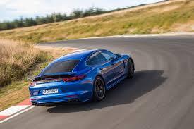 porsche panamera blue 2018 porsche panamera turbo s e hybrid and panamera sport turismo