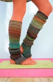 Upcycle Leggings - upcycled no sew leg warmers from an old thrift store sweater