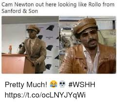 Cam Newton Memes - cam newton out here looking like rollo from sanford son pretty