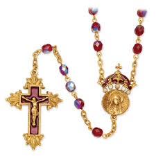 rosary from the vatican gold tone 28in king of crucifix rosary necklace