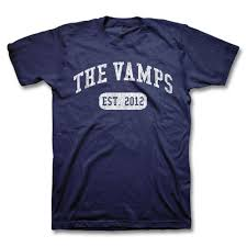 Navy Blue An by Official The Vamps University Logo T Shirt The Vamps