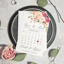 Save The Date Wedding Cards Bohemian Pink Floral Watercolor Wedding Save The Date Cards