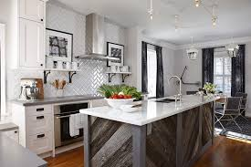 white kitchen wood island interior decoration modern kitchen design with rectangle grey