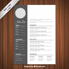 creative resume template free download psd wedding resume template in classical style vector free download