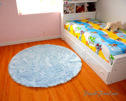 blue nursery rug baby blue luxury faux fur throw area rug