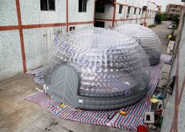 dome tent for sale 8m diameter combo transparent inflatable dome tent for party