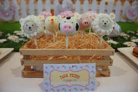 animal cake pops farm animal barnyard kid u0027s birthday party