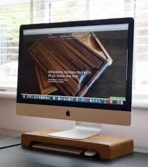 wooden imac stand makemesomethingspecial co uk прочие идеи