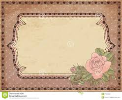 Vintage Wedding Invitation Card Vintage Wedding Invitation Card Royalty Free Stock Photography