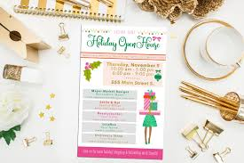 holiday open house invitations holiday flyer home shopping