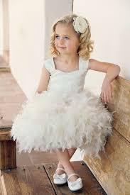 flower girl accessories girl ivory custom feather balloon flower girl dress lunss