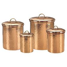 copper canisters kitchen hammered 4 kitchen canister set reviews wayfair