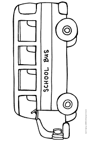 Bus Color Pages Coloring Pages For Kids Transportation Color Page