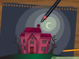 28 easy house drawing simple drawing of house how to draw a haunted house 15 steps with pictures wikihow